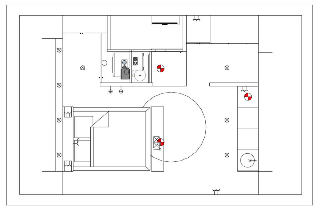Verlichtingsplan Masterbedroom Zolderverdieping