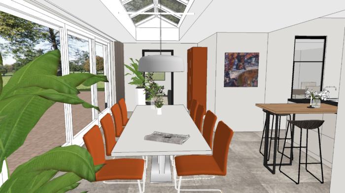 Marstyling interieurontwerp interieuradvies verbouwing bouwbegeleiding tuinontwerp verlichtingsplan kleuradvies wijchen groessen marielle stolk keukenontwerp keuken bijkeuken